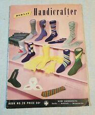 Vintage 1949 Bernat Handicrafter Book No. 20 Mens Fashions Knitting Patterns