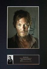 #560 NORMAN REEDUS Reproduction Signature/Autograph Mounted Signed Photograph A4