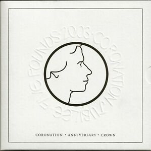 2003 CORONATION £5 COIN IN PRESENTATION PACK
