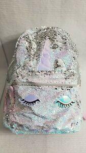 Unicorn Backpack, Animal Print, Pink/Purple/Gold/Silver (8147STA)