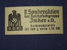 WWII German SUPER RARE ALL PURPOSE LIMITED 1933 - 45 STAMP  44