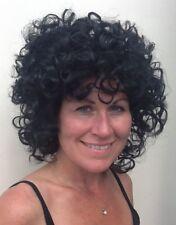 Black Curly Female Party Dance Fancy Dress Wig, 1st Class P&P