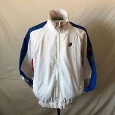 Vintage 90s Prince Sportswear Tennis Jacket Medium White Vtg Us Open Wimbeldon