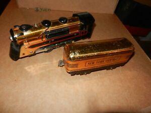 MARX  Steam Loco and Tender, Copper Finish, Original