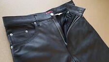 Ultra Rare Vintage Levis - 100% Black Leather Pants - Lot 53 - Size 36/36 Mint !