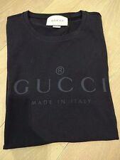 LOGO GUCCI T-Shirt-Blu Scuro/Grigio Taglia XL * BNWT * - autentici con ricevuta