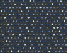 Cotton Jersey Fabric Tiny Blue Stars On Grey Night Time 150cm Wide