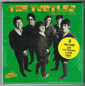 "THE TURTLES Greatest Hits 7"" 45 Single FACTORY SEALED Box Set ON CLEAR VINYL"