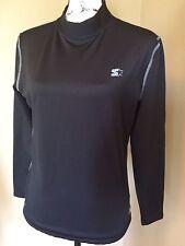 Women's Starter Dry Star Fitness Athletic black Long Sleeve Shirt, medium