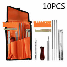 10pcs Guide Chain Saw Sharpening Kit Handle File Tool Set Durable Depth Gauge