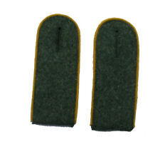 German WW2 Army M43 enlisted ranks shoulder boards.Gold-Yellow piping