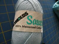 REYNOLDS Saucy. 100% Mercerized Cotton Yarn NEW COLOR 232 LOT 110 PALE BLUE