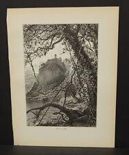 Picturesque Europe Lago Di Nemi Engraving 1885 !i4#28