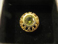 18kt Yellow Gold, 3+ct Peridot Ring, Bezel Setting, Size 6 ¾, Corletto