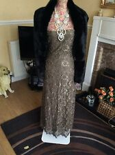 Phase Eight Lace/beads/Sequins Full Length Dress Size 10 Ec Hols
