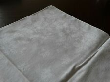 "6 Vintage Cotton Linen Damask Dinner Napkins 17"" x 18 1/2"" Carnations & Wheat"
