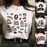 Womens Tops Summer Clothing Short Sleeve T Shirt Feminists Harajuku Girl And Boy