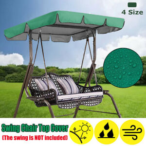 Replacement Canopy For Swing Seat 2/3 Seater Garden Hammock Swing Chair Cover UK