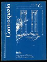 Architettura Controspazio n. 1 2 gennaio giugno 1985 Italia