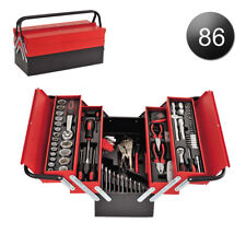 86 PCS Pro Tool Box Tool Set in Red Metal Box Fully Loaded Professional Wrenches