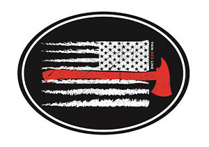 Firefighter Thin Red Line USA Flag Home Office Refrigerator Patriotic Magnet