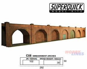 EMBANKMENT ARCHES C8 1:72 OO HO Gauge Railway Building Series C C08 SuperQuick