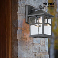 NEW 1LT Outdoor Aluminium Wall Light Sconce Lantern Coventry in Black