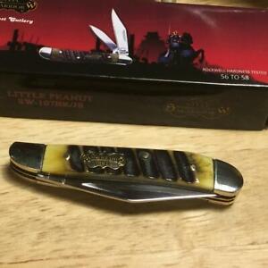 """Frost Steel Warrior Little Peanut Chainsaw Bone 2 3/4"""" Pocket Knife FSW107BRJS"""