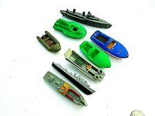 1950-1960's hard plastic Toy Boat lot-Pt Boat,Lst,Destroyer & Speedboats,Pontoon