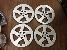 "4- NEW TOYOTA PRIUS HUBCAPS 2010-2011 15"" CHROME EMBLEM WHEEL COVERS HUB CAPS"