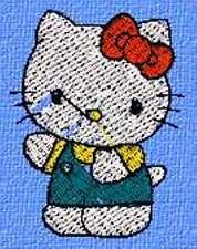Disegno per tutte le macchine da Ricamo Hello Kitty 041 Tajima Janome, Husqvarna