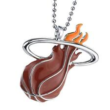 Miami Heat NBA Basketball Chain Pendant Charm Official Licensed Necklace Chrome