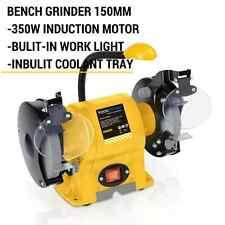 BENCH GRINDER 350W HEAVY DUTY LED LIGHT DRILL BIT KNIFE CHISEL SHARPEN POLISHER