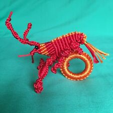 RARE Set of 16 Lobster Crayfish Animal Napkin Rings Handmade Collection T10