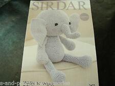 Sirdar Double Crepe DK Toy Crochet Pattern 2472