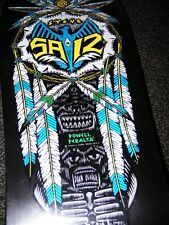 Powell Peralta Skateboards Steve Saiz Indian Feathers Deck Original 1989 REDUCED
