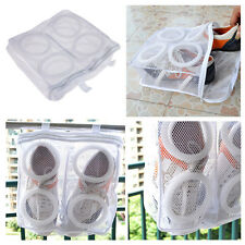 New Useful White Household Mesh Laundry Shoes Footwear Wash And Dry Bag