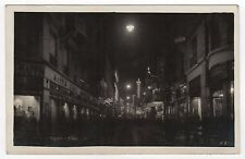 SAO PAULO BRAZIL Brasil RPPC Real Photo Postcard RUA DIREITA Street CITY Night
