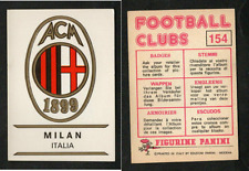Figurina Panini Football Clubs 1975! N.154! Scudetto Milan! Italia Nuova!!
