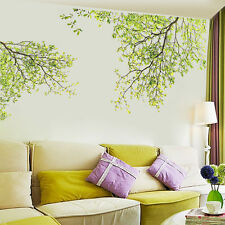 Family Green Tree Wall Sticker Vinyl Art Home Decals Room Decor Mural Branch