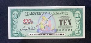 2002 100 years of magic Series $10 Tinker Bell Disney Dollar Uncirculated Mint