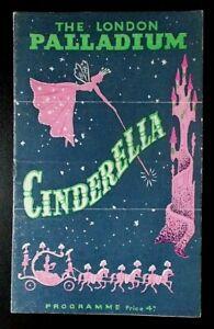 Cinderella programme London Palladium 1948-1949 Roma Beaumont Franklin Bennett