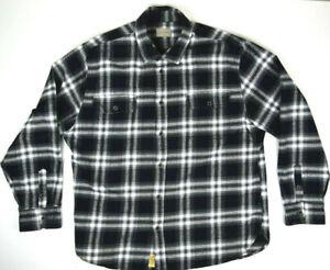 VTG JACHS Black Star Shadow Plaid Flannel Shirt Jacket XL 90s Kurt Cobain Grunge