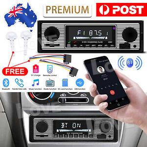 Car Audio Radio Stereo Bluetooth Vintage Head Unit Player MP3/USB/SD/AUX-IN/FM