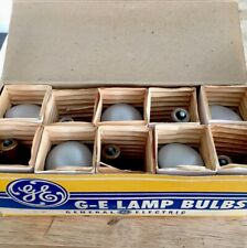 Vintage Box No.1385 of 10 Nos Ge Aircraft Miniature Lamps light bulbs
