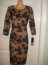 Leslie Fay 3/4 Sleeve Lace Over Cocktail Sheath Dress Sz 2