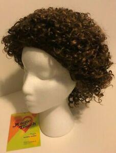 Magic Touch Wig, Curly, Off Black / Strawberry Blonde, Kanekalon/ Toyokalon