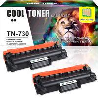 2PK Fits for Brother TN730 Toner MFC-L2710dw HL-L2730DW MFC-L2750DW DCP-L2550DW