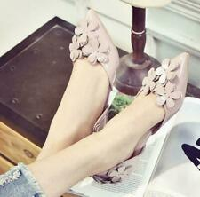 Womens Flower Fashion Outwear Casual Sweet Flats Heel Pumps Wedding Party Shoes