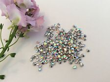 PRECIOSA TITANIA Crystal AB Strass 13ss 3.2mm x 60 Riparazione Craft POST LIBERO